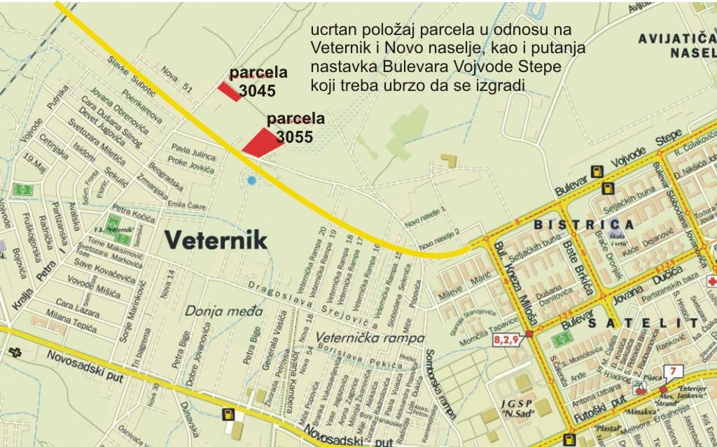 veternik mapa Prodaja placeva u Veterniku slike placeva i kuca u izgradnji veternik mapa