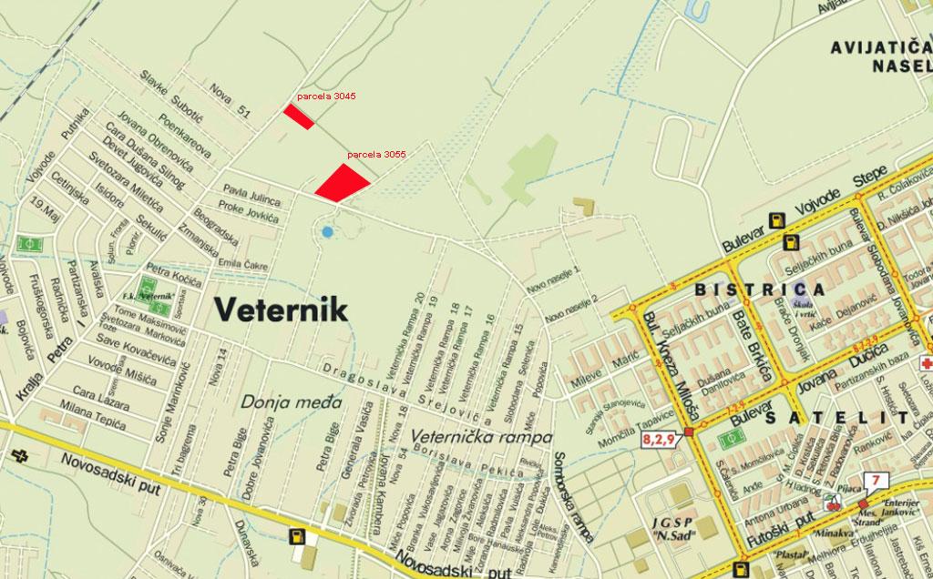 veternik mapa Prodaja placeva u Veterniku   parcele 3045 veternik mapa